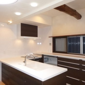 開放的で明るいキッチン 刈谷市